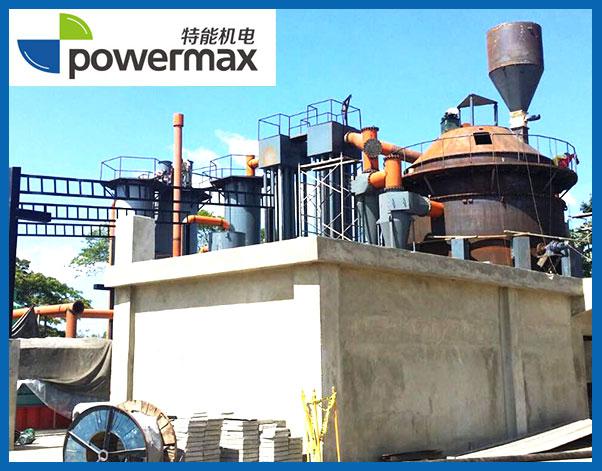 位于多米尼加的800KW稻壳气化发电站
