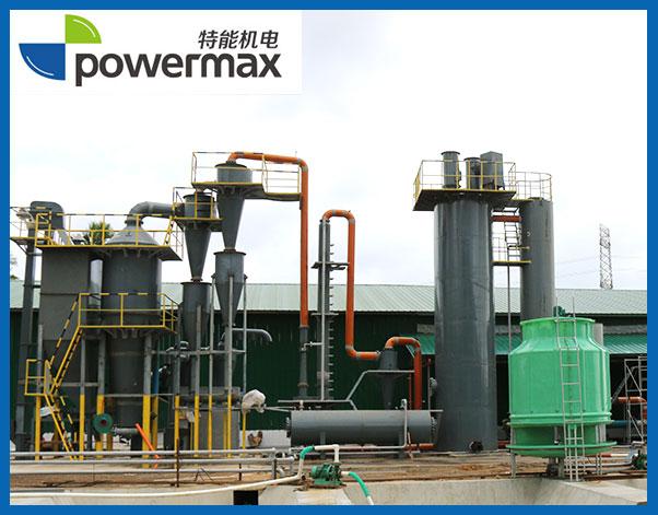 位于菲律宾的500KW椰子壳气化发电站